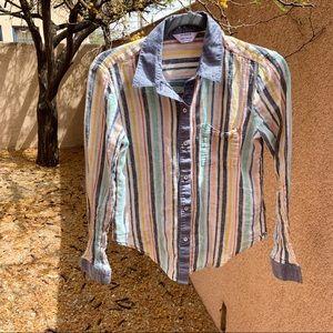 Splendid x Gray Malin Playa Striped Shirt